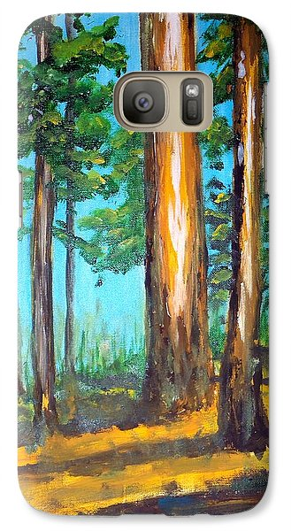 Galaxy Case featuring the painting The Sun Slid Down The Ridge by Jim Phillips
