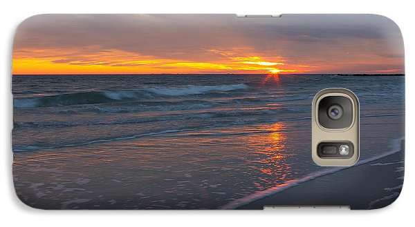 Galaxy Case featuring the photograph The Sunset Kissing The Waves by Jose Oquendo