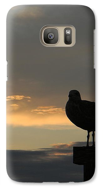 Galaxy Case featuring the photograph The Sunset Perch by Jean Goodwin Brooks