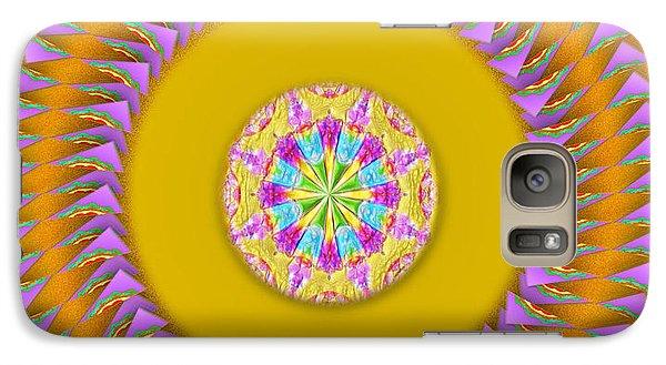 Galaxy Case featuring the digital art The Sunshine Mandala by Mario Carini