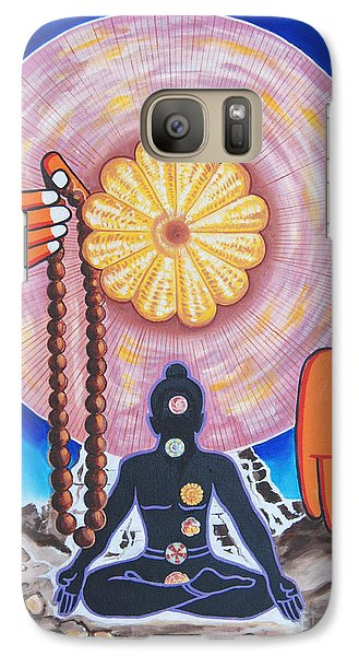 Galaxy Case featuring the painting The Supreme Power Of Chakras by Ragunath Venkatraman