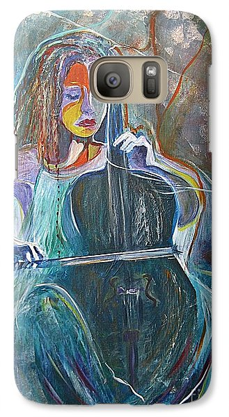 Galaxy Case featuring the painting The Swan Of Saint-sanz by Diana Bursztein