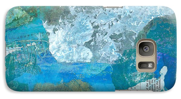 Galaxy Case featuring the mixed media The Swimmer by Catherine Redmayne