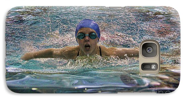 Galaxy Case featuring the photograph The Swimmer by Lee Dos Santos