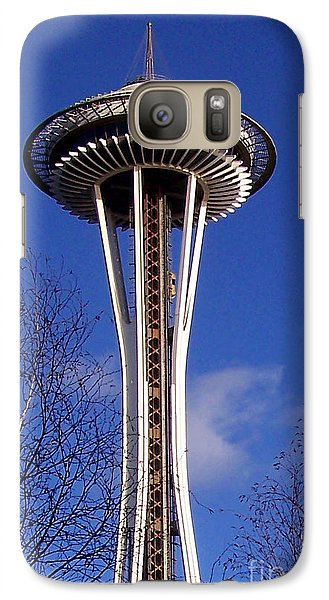 Galaxy Case featuring the photograph The Symbol Of Seattle by Kathy  White