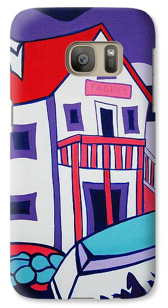 Galaxy Case featuring the painting The Tackle House by Joyce Gebauer