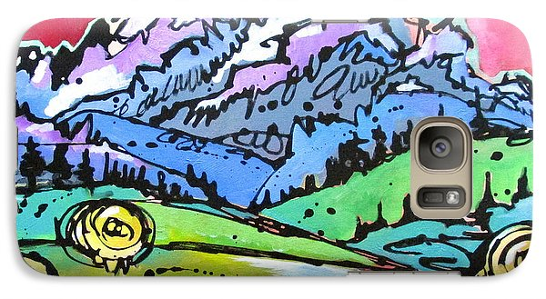 Galaxy Case featuring the painting The Tetons From Walton Ranch by Nicole Gaitan
