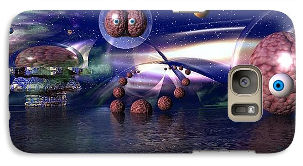Galaxy Case featuring the digital art The Thinker by Jacqueline Lloyd