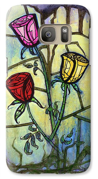 Galaxy Case featuring the painting The Three Roses by Terry Webb Harshman