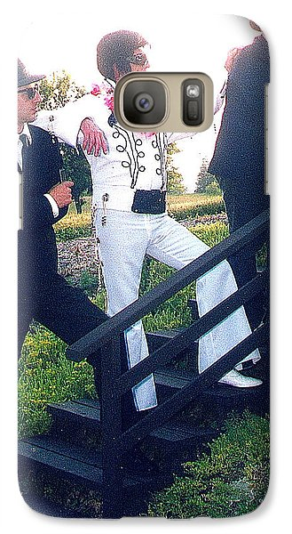 Galaxy Case featuring the photograph The Three Stooges by Randy Rosenberger