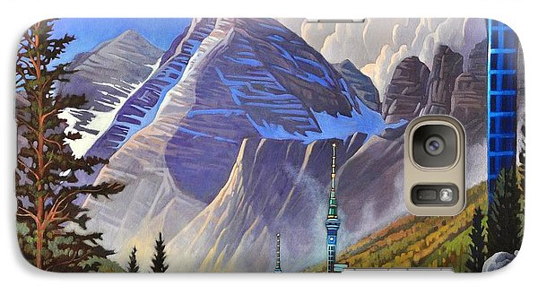 Galaxy Case featuring the painting The Three Towers by Art James West
