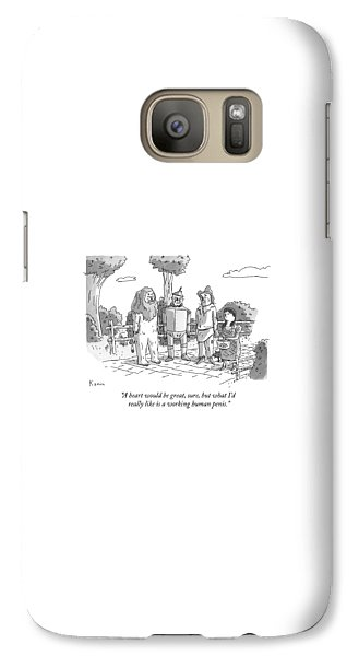 Wizard Galaxy S7 Case - The Tin Man Of The Wizard Of Oz Speaks by Zachary Kanin