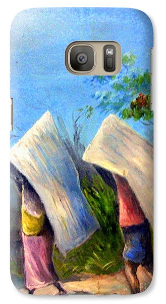 Galaxy Case featuring the painting The Traditional Umbrella  by Jason Sentuf