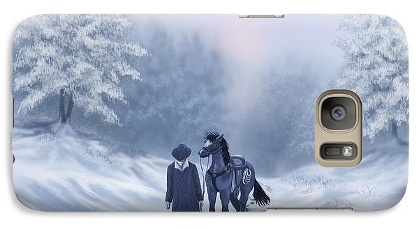 Galaxy Case featuring the painting The Trail Home by Sena Wilson