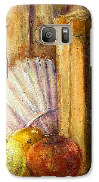 Galaxy Case featuring the pastel The Traveler by Bernadette Krupa