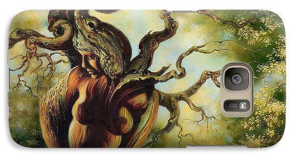 Galaxy Case featuring the painting The Tree by Anna Ewa Miarczynska