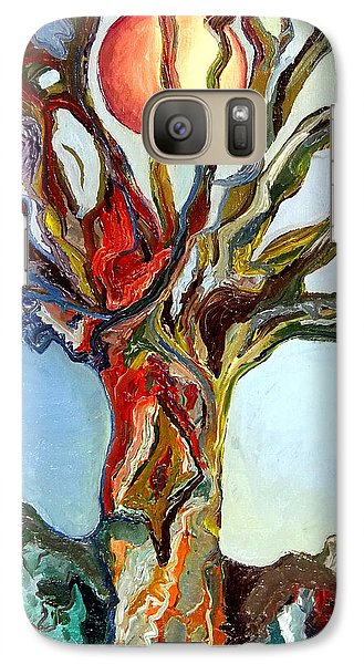 Galaxy Case featuring the painting The Tree by Daniel Janda