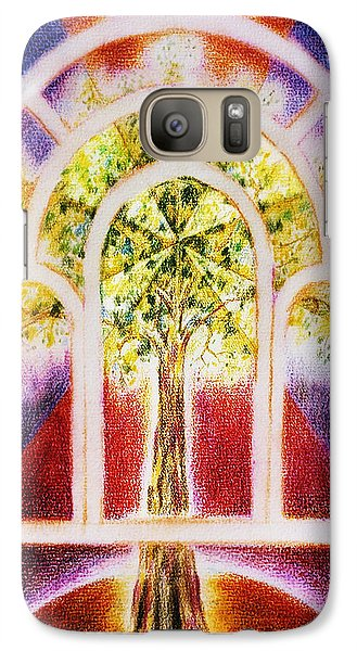 Galaxy Case featuring the painting The  Tree  Of Life by Hartmut Jager