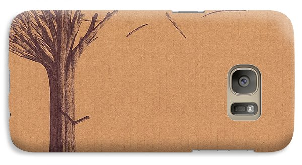 Galaxy Case featuring the drawing The Tree Of Life - Immigration by Giuseppe Epifani