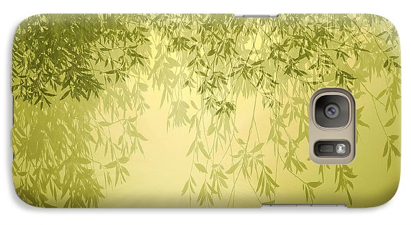 Galaxy Case featuring the photograph The Trees First Light by Holly Kempe