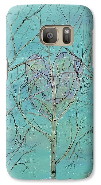 Galaxy Case featuring the painting The Trees Speak To Me In Whispers by Deborha Kerr
