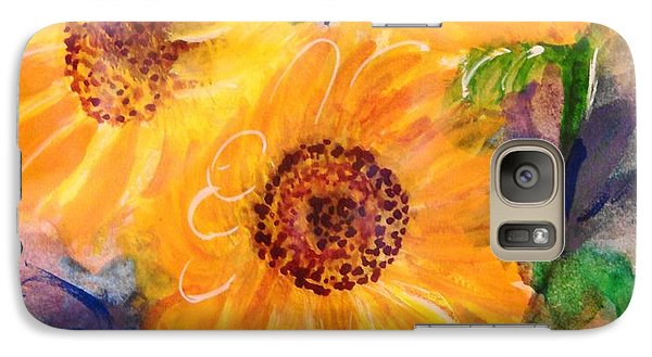 Galaxy Case featuring the painting The Trio by Margaret Bobb