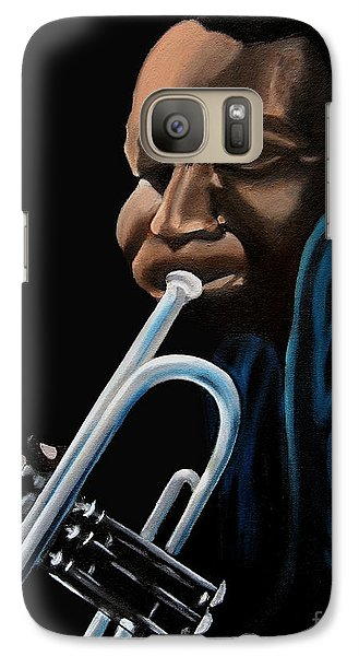 Galaxy Case featuring the painting The Trumpeter by Barbara McMahon