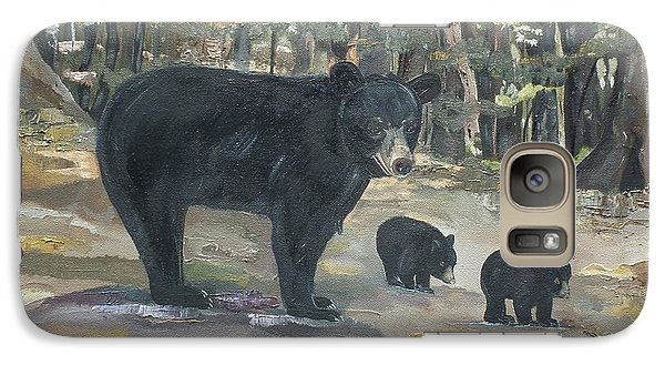 Galaxy Case featuring the painting Cubs - Bears - Goldilocks And The Three Bears by Jan Dappen