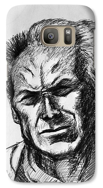 Galaxy Case featuring the painting Clint Eastwood by Salman Ravish
