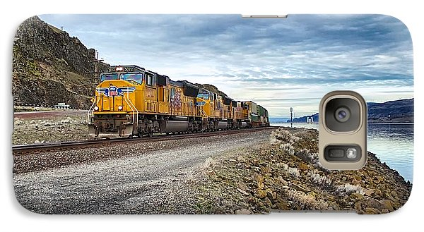 Galaxy Case featuring the photograph The Union Pacific Railroad Columbia River Gorge Oregon by Michael Rogers