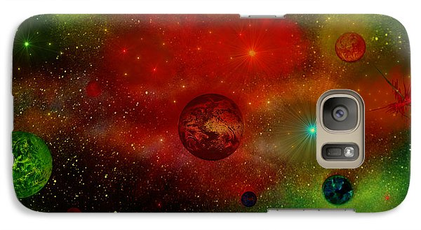 Galaxy Case featuring the painting The Universe by Michael Rucker