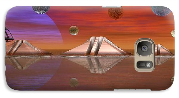 Galaxy Case featuring the digital art The Unknown by Jacqueline Lloyd