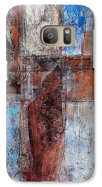Galaxy Case featuring the painting The Urban Frontier by Buck Buchheister