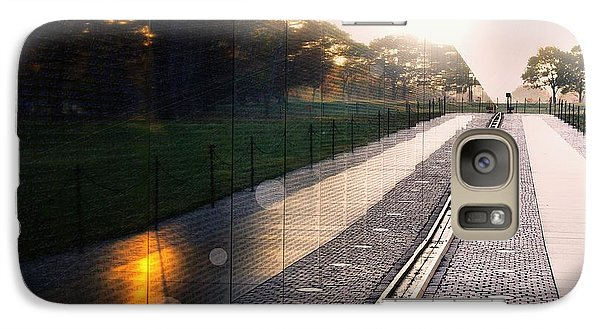 Galaxy Case featuring the photograph The Vietnam Wall Memorial  by John S