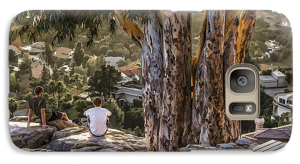 Galaxy Case featuring the digital art The View by Photographic Art by Russel Ray Photos