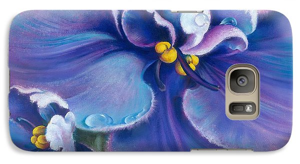 Galaxy Case featuring the painting The Violet by Anna Ewa Miarczynska