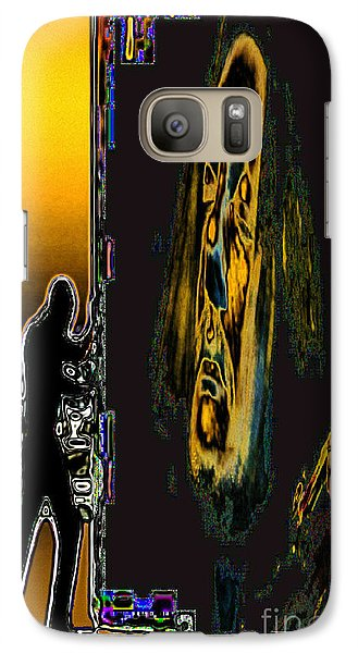Galaxy Case featuring the digital art The Violin Inside by Mojo Mendiola