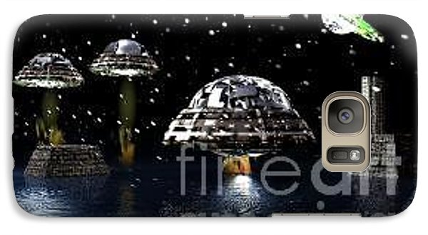 Galaxy Case featuring the digital art The Visit by Jacqueline Lloyd