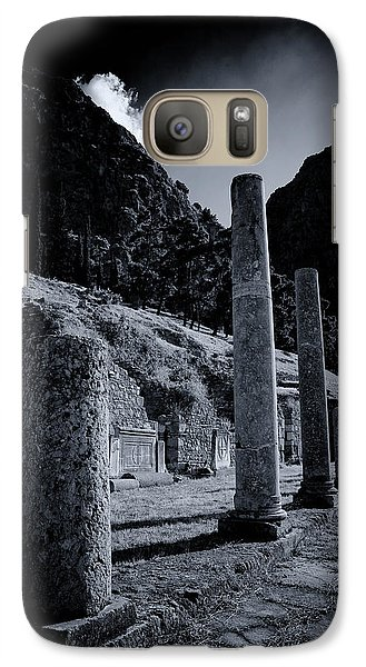 Galaxy Case featuring the photograph The Votive Monument Of Spartans At Acient Delphi by Micah Goff