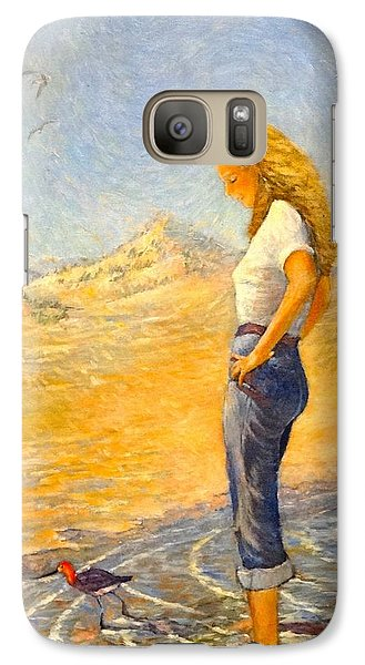 Galaxy Case featuring the painting The Waders  by Charles Munn