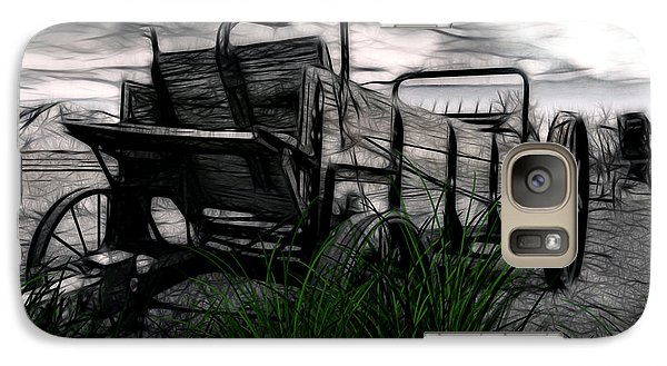 Galaxy Case featuring the mixed media The Wagon by Tyler Robbins
