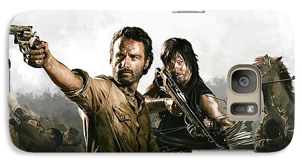 Galaxy Case featuring the painting The Walking Dead Artwork 1 by Sheraz A