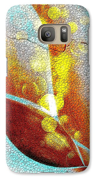 Galaxy Case featuring the digital art The Wall Light by Nico Bielow