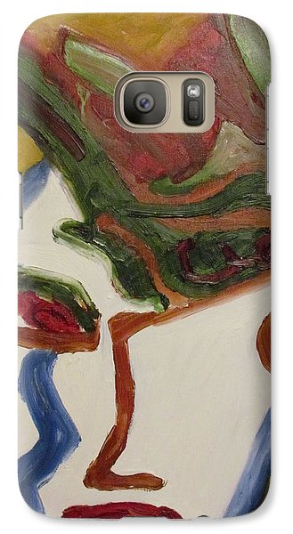 Galaxy Case featuring the painting The Warrior by Shea Holliman