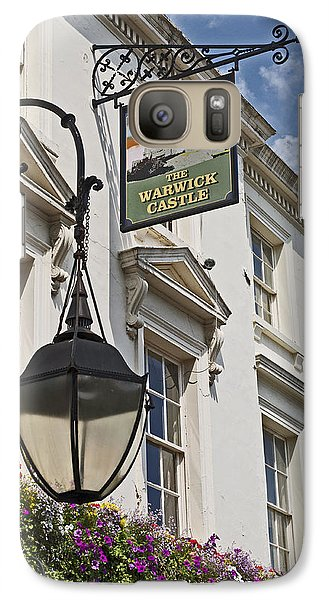 Galaxy Case featuring the photograph The Warwick Castle Pub by Cheri Randolph