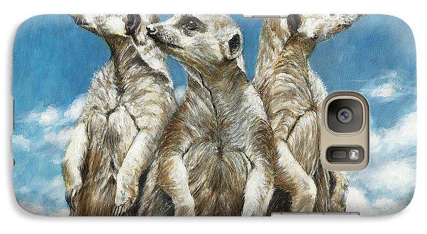 Meerkat Galaxy S7 Case - The Watchers by Dreyer Wildlife Print Collections