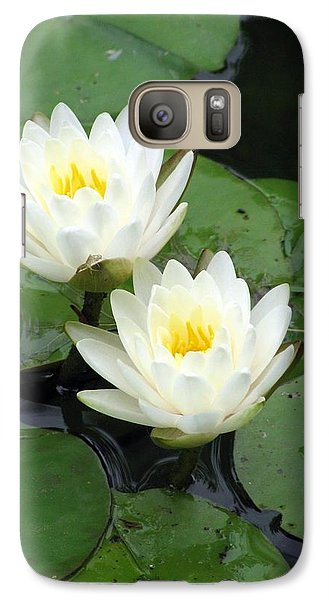Galaxy Case featuring the photograph The Water Lilies Collection - 07 by Pamela Critchlow