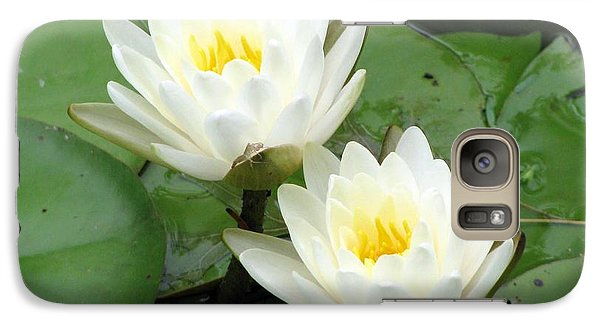 Galaxy Case featuring the photograph The Water Lilies Collection - 08 by Pamela Critchlow