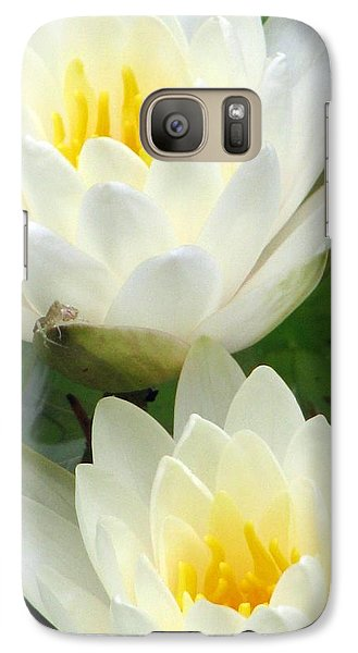 Galaxy Case featuring the photograph The Water Lilies Collection - 09 by Pamela Critchlow