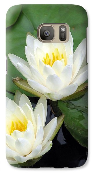 Galaxy Case featuring the photograph The Water Lilies Collection - 12 by Pamela Critchlow